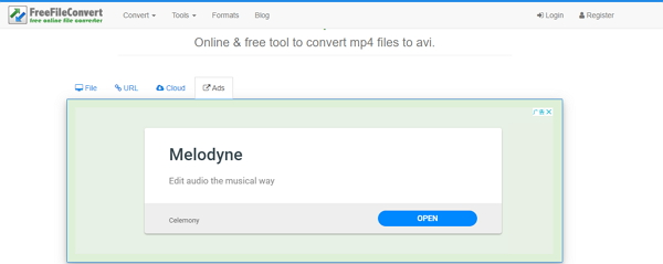 convert MP4 to AVI by Freefileconvert