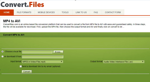 mp4 to avi converter free Converter.Files.com