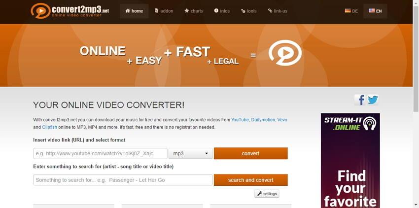 Convert2mp3 -VOB en AVI convertisseur en ligne
