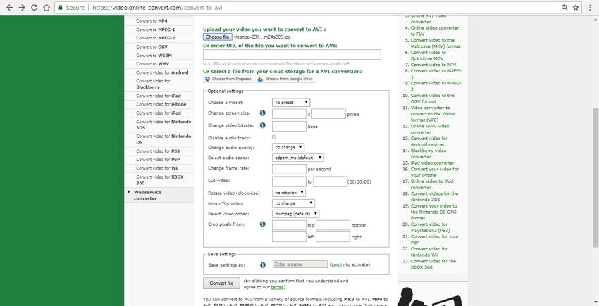 convert jpg to avi online Online Convert
