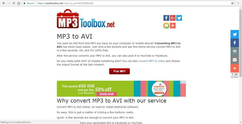 Convertissez MP3 en AVI gratuitement avec MP3Toolbox