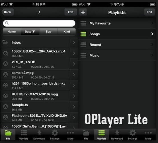 how to play avi files on iphone with Olimsoft