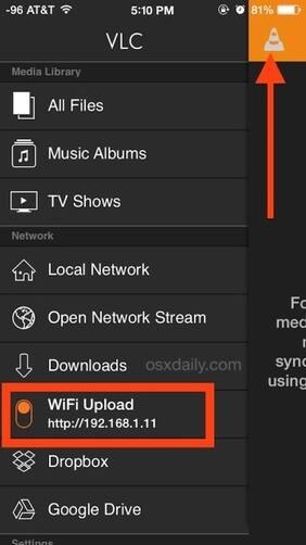 Tnstall VLC on your iPhone