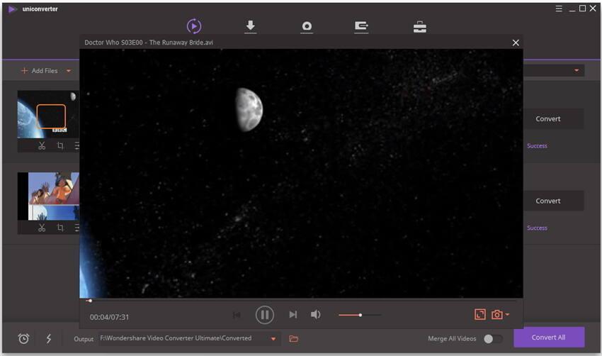 Play avi with windows media player.