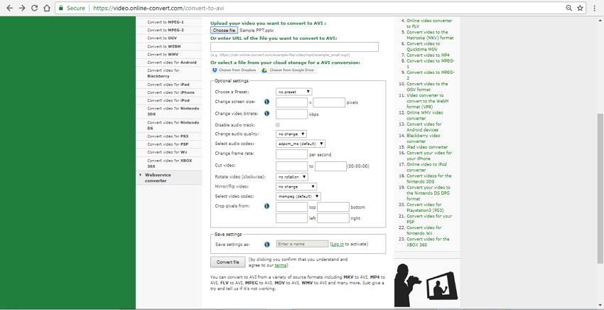 ppt to avi converter online