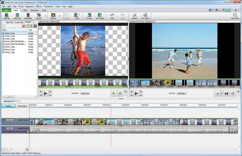 Taglia File AVI - VideoPad Video Editor