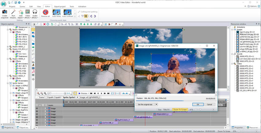 Taglia File AVI - Flash-Integro VSDC Editor Video Gratuito