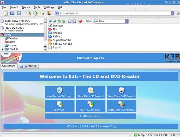 burn cd program with K3b