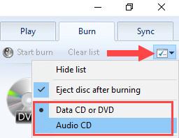 burn cd to mp3 windows 10