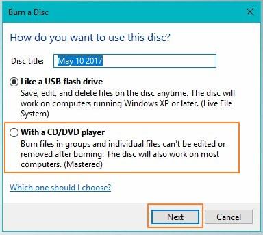 bburn data to cd