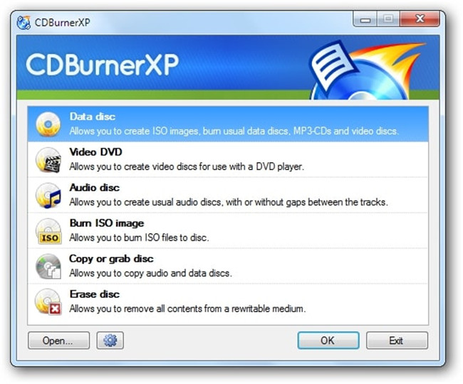 burn files to CD on Windows