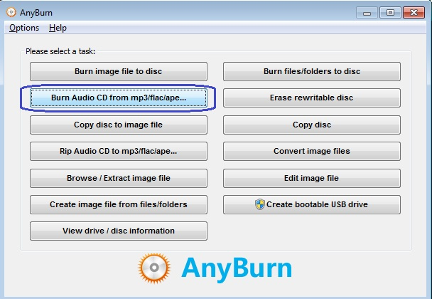 burn flac to cd