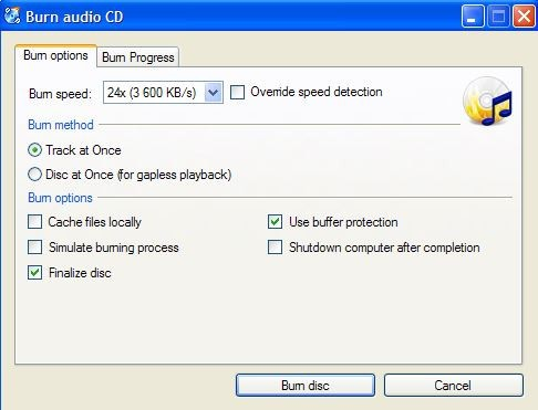burn mp4 to audio cd
