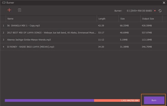 burn files on cd burner download