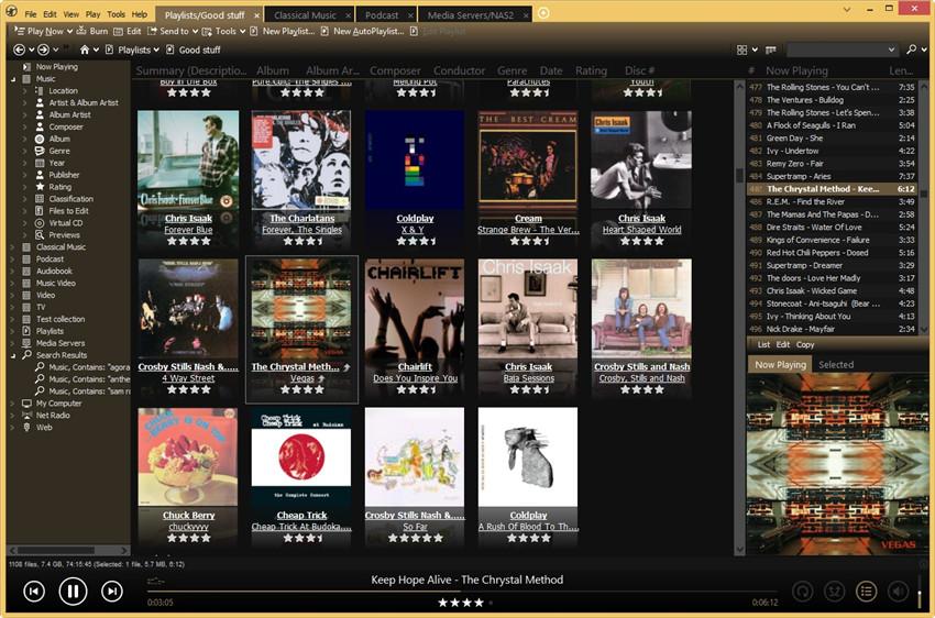 Musik-Metadatenfenster bearbeiten