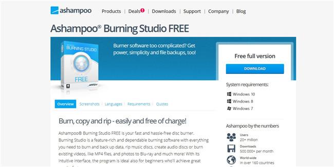 windows xp cd burner with Ashampoo