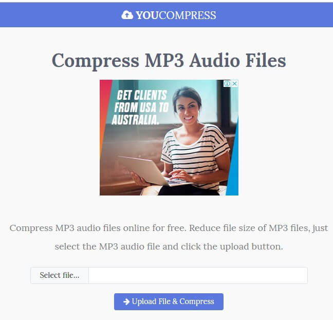 compresseur audio en ligne - YouCompress