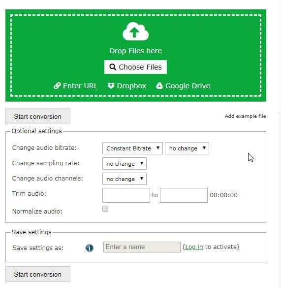 compresseur audio en ligne - Conversion en ligne