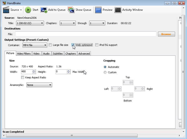 compress MKV files with HandBrake