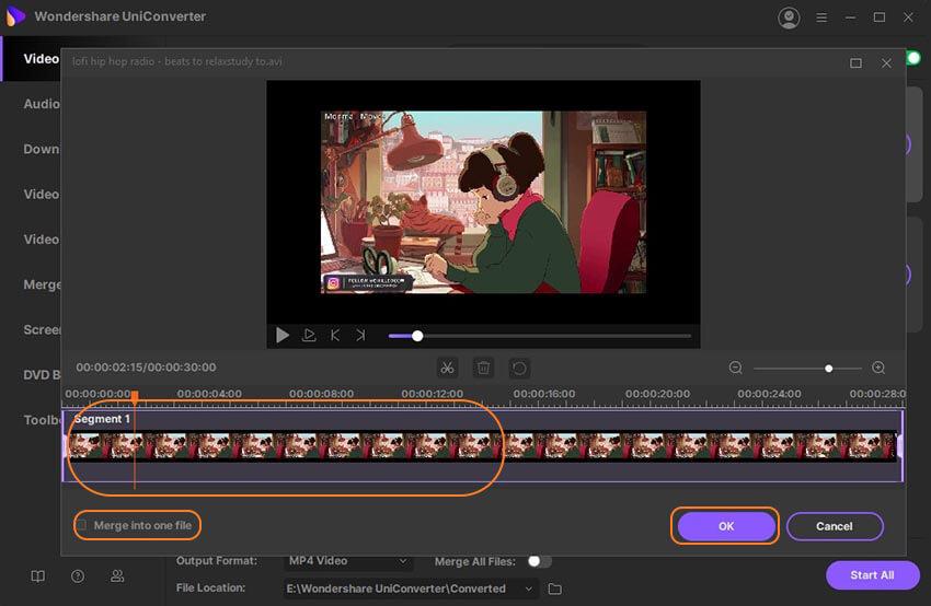 ضغط الفيديو للبريد الإلكتروني عن طريق التشذيب