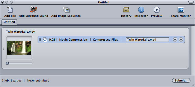 compress video mit Apple Compressor 4 - 5