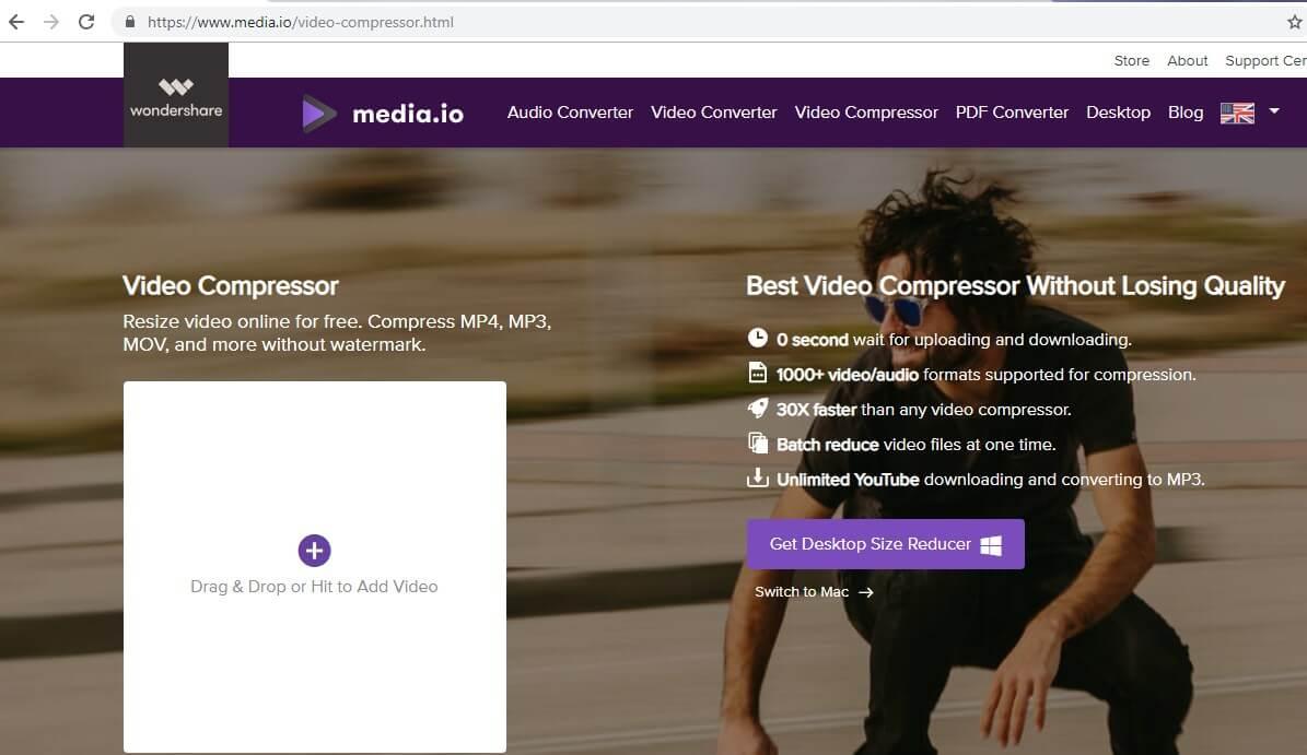 compress videos for WhatsApp free online - Media.io