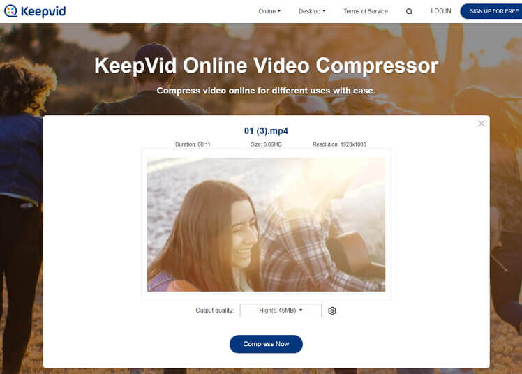 free mp4 compressor - keepvid