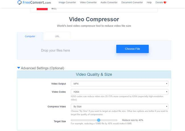 compressor de vídeo online