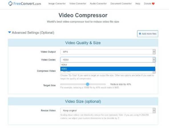 comprimir vídeo