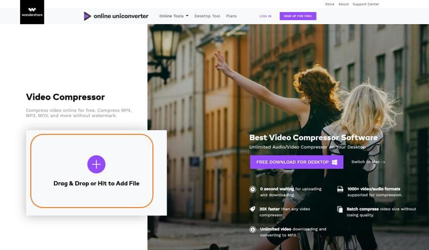 ajouter une vidéo pour réduire la taille en ligne