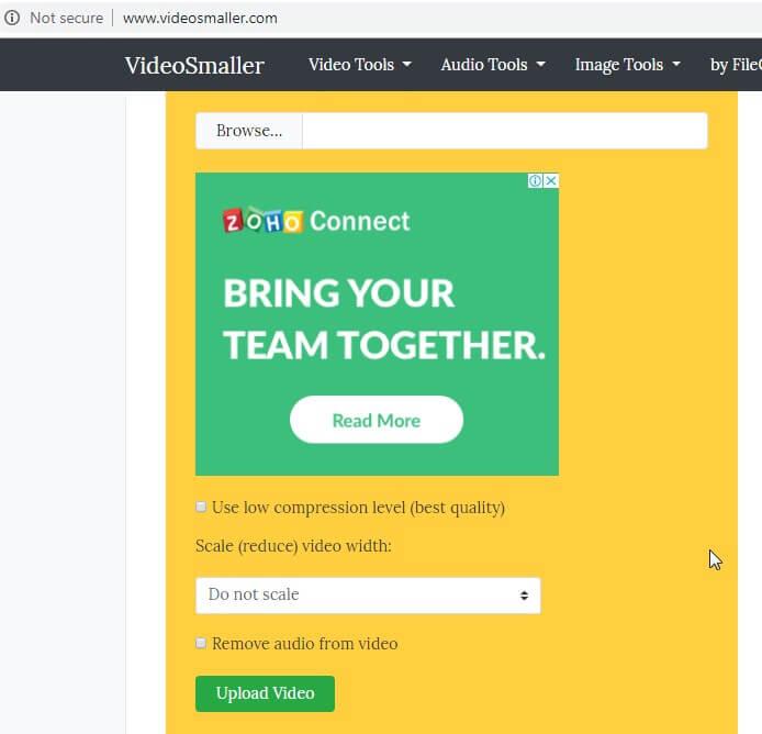 convertisseur de taille en ligne - VideoSmaller
