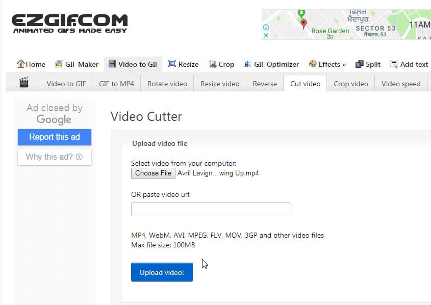 online video cutter and compressor - EZGIF
