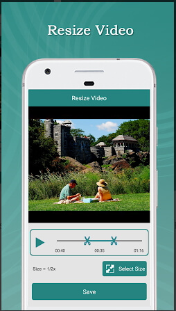 other video resizer tools - resize video Android