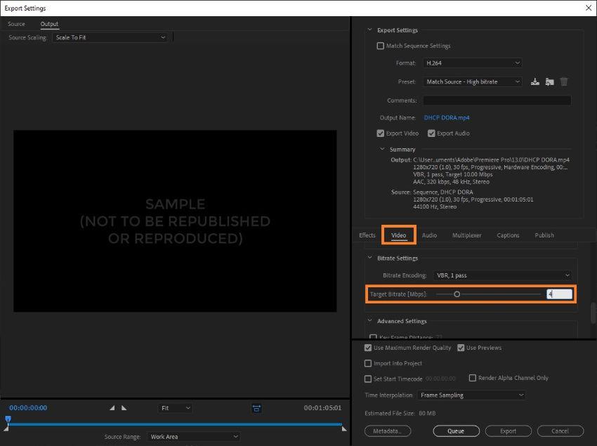 premiere pro compress video