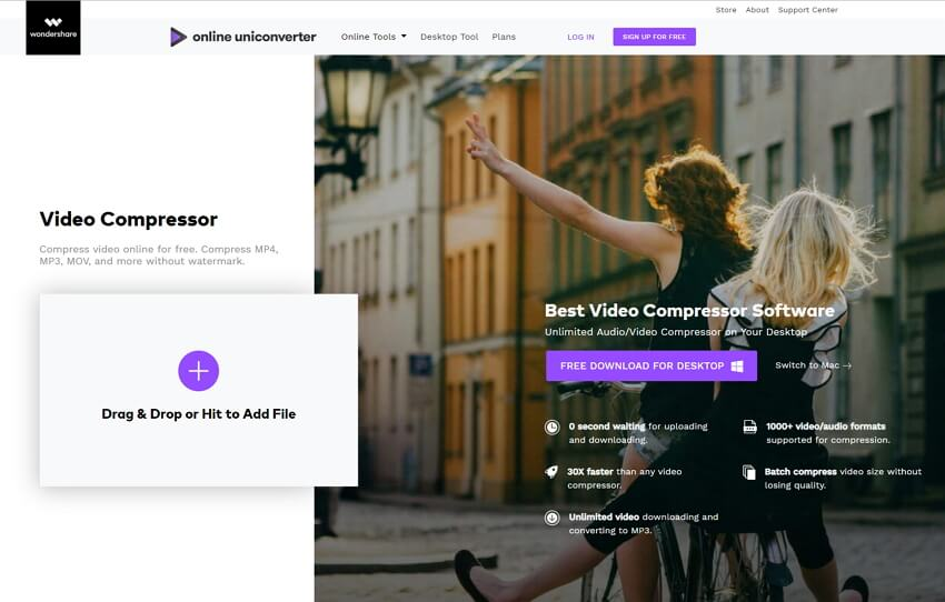 Online UniConverter (originally Media.io) pour redimensionner MP4 en ligne