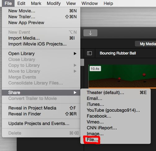 make file size smaller with iMovie - step2