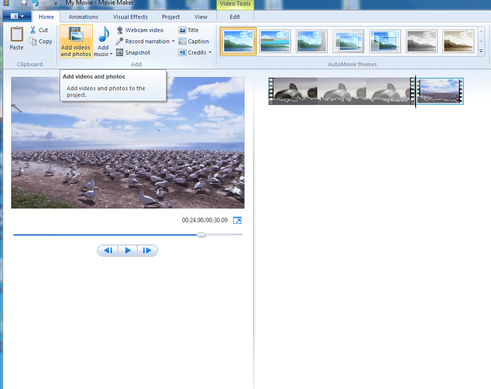 make file size smaller with Windows Movie Maker - step1