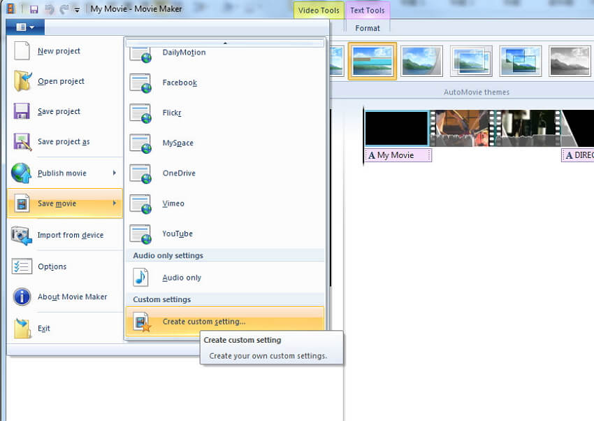 réduire la taille du fichier avec Windows Movie Maker - step3