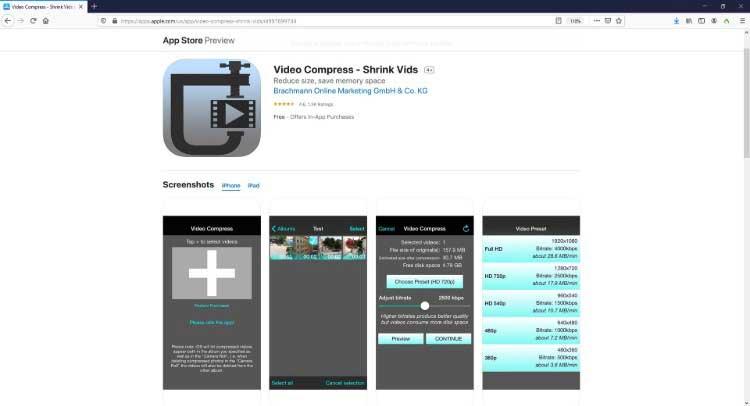 video compress – shrink vids
