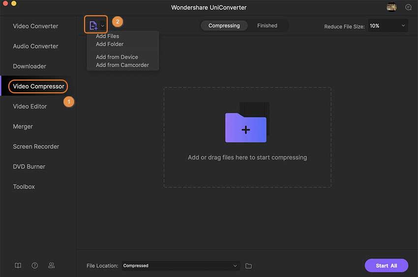 launch video compressor for Mac