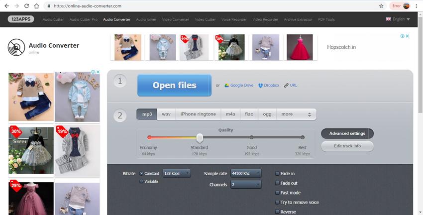 compresseur wav en ligne - Convertisseur audio en ligne