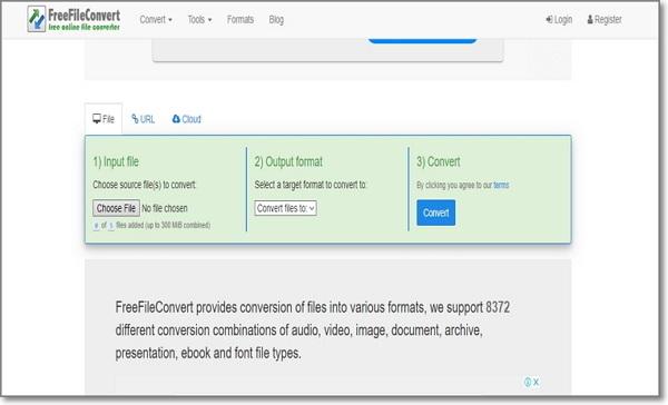 convert AC3 to WAV online by FreeFileConvert