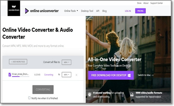 convert AC3 to WAV online by Online Uniconverter