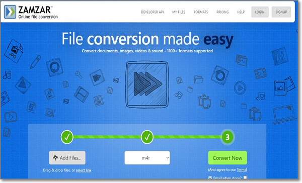 convert AMR to MP3 by Zamzar