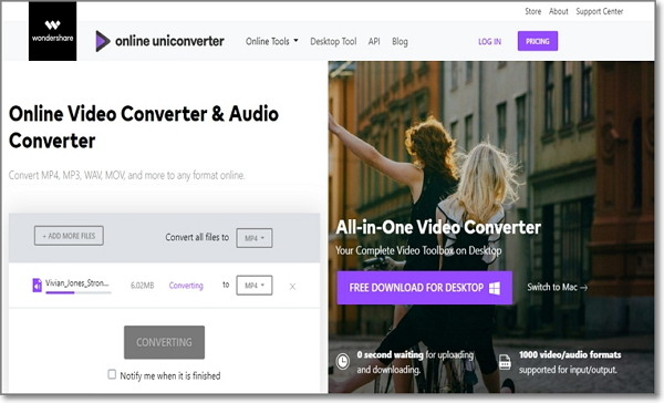 convert FLV to MP3 by Online UniConverter