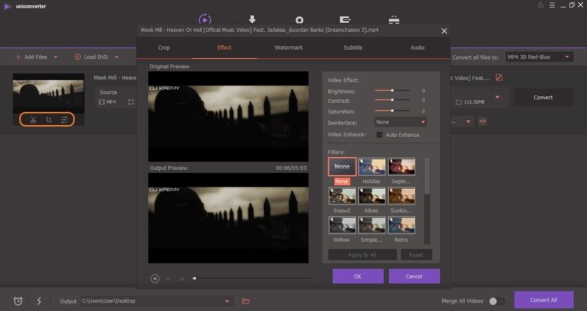editar vídeo por wondershare uniconverter
