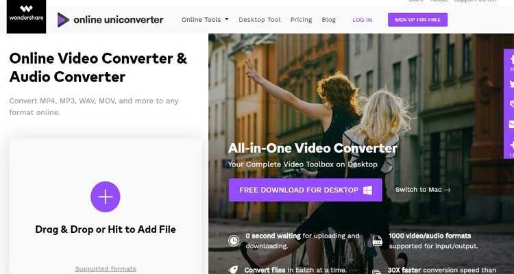Online CloudConvert Alternatives - Online UniConverter