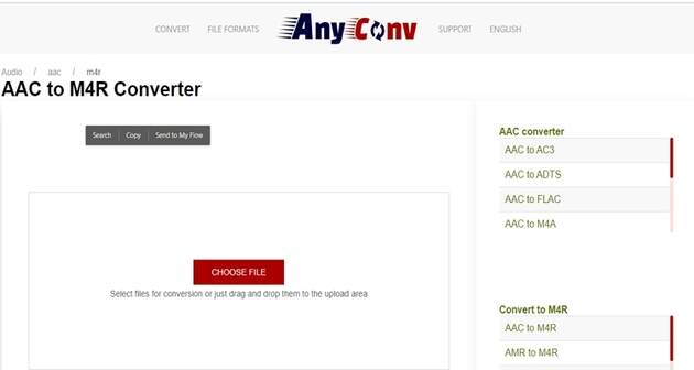 AAC Format Online Converters -AnyConv