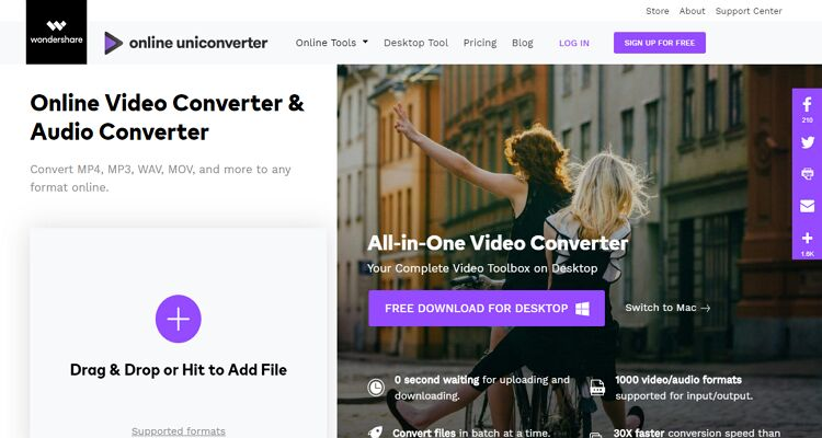 how to convert anything online -Online UniConverter