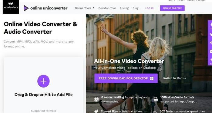 Anything to MP4 Converter Online Free -Online UniConverter
